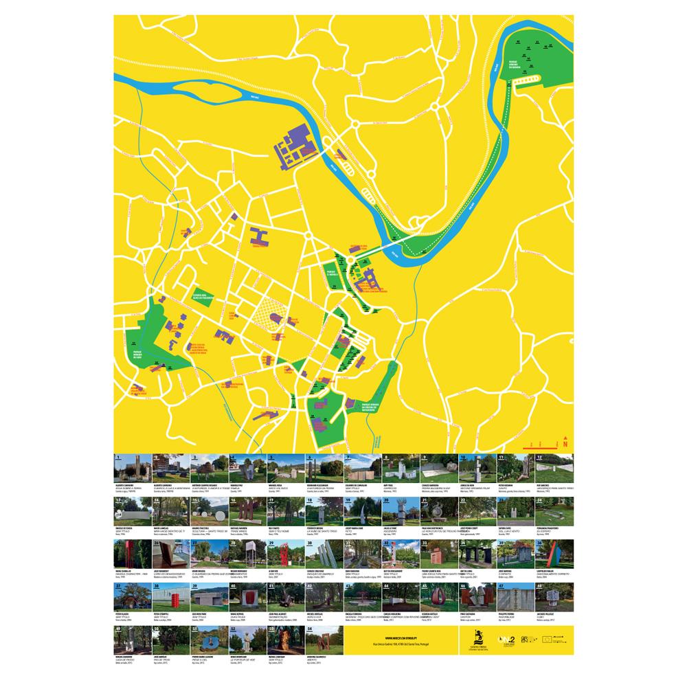 Mapa de Esculturas na Cidade